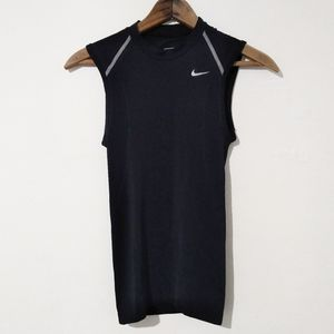 Nike Men's Black Sleeveless Muscle Performance Tee
